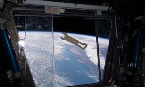 3D printed wrench in space