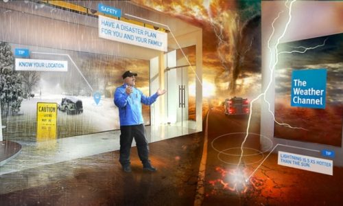 The Weather Channel immersive mixed-reality experience