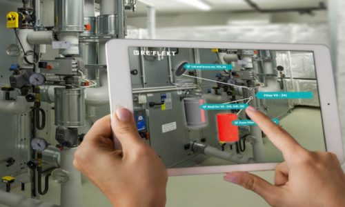 Machine inspection and instructions using AR